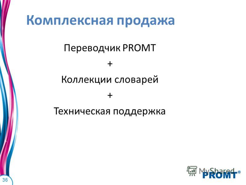 Комплексная продажа Переводчик PROMT + Коллекции словарей + Техническая поддержка 36