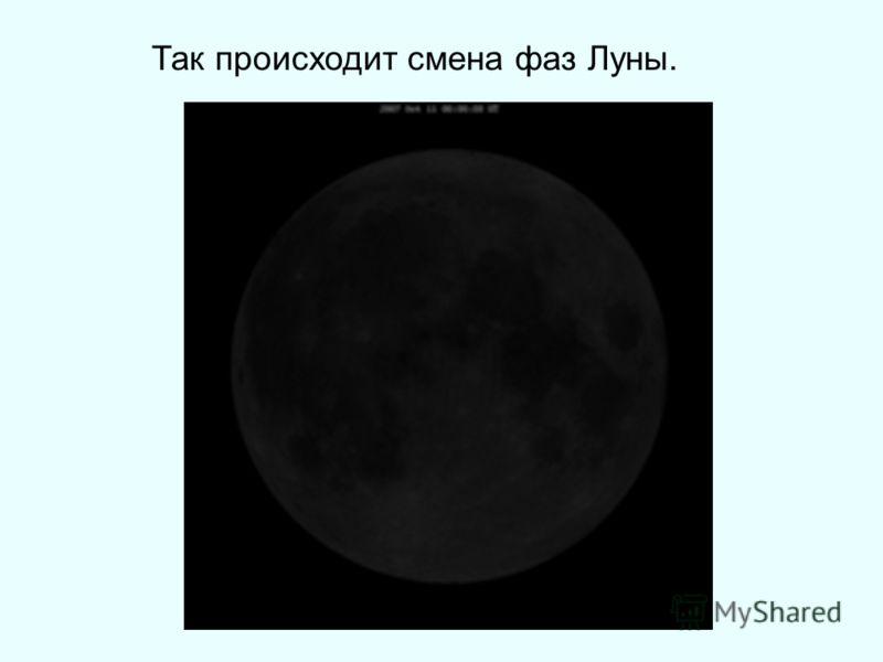 Так происходит смена фаз Луны.