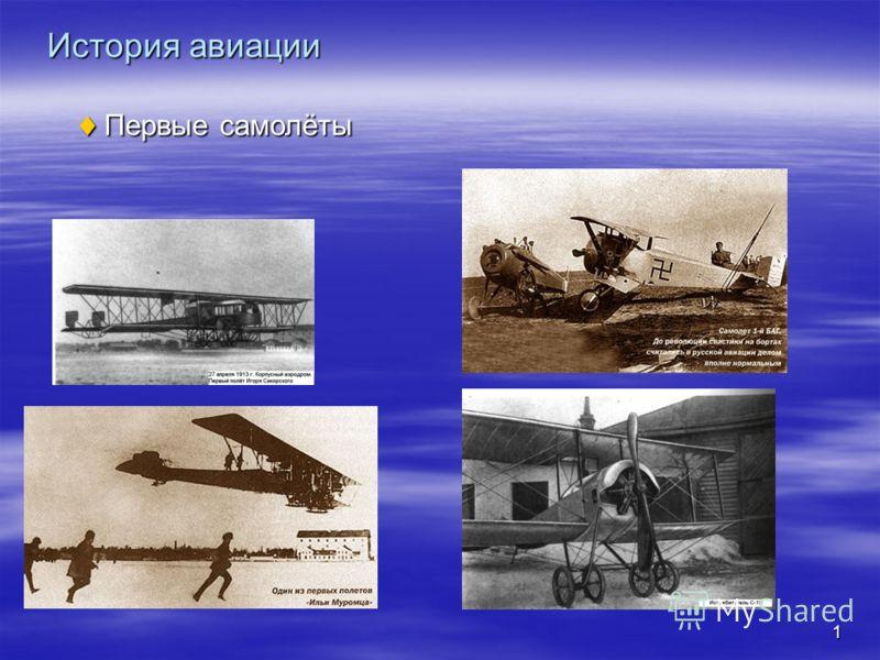 1 История авиации Первые самолёты Первые самолёты