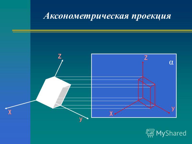 Аксонометрическая проекция α
