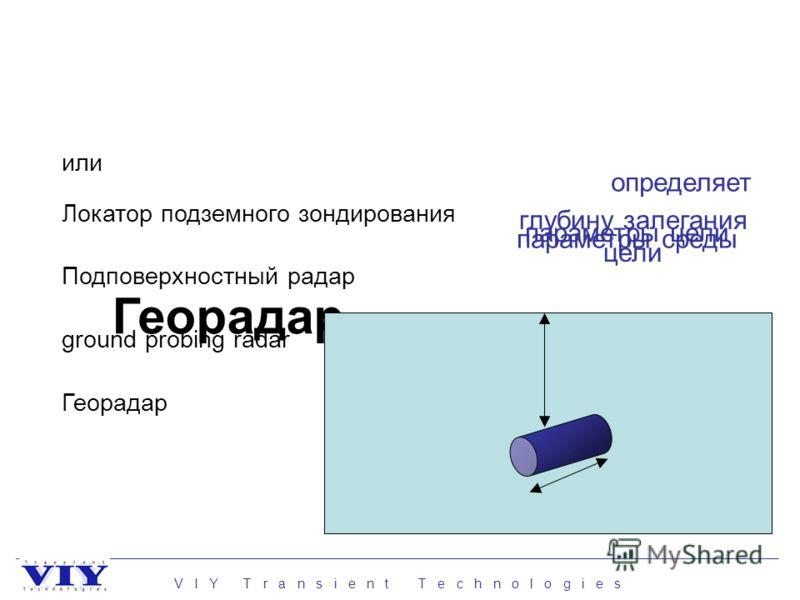 Георадар Локатор подземного зондирования ground probing radar Подповерхностный радар Георадар глубину залегания цели параметры цели параметры среды определяет или