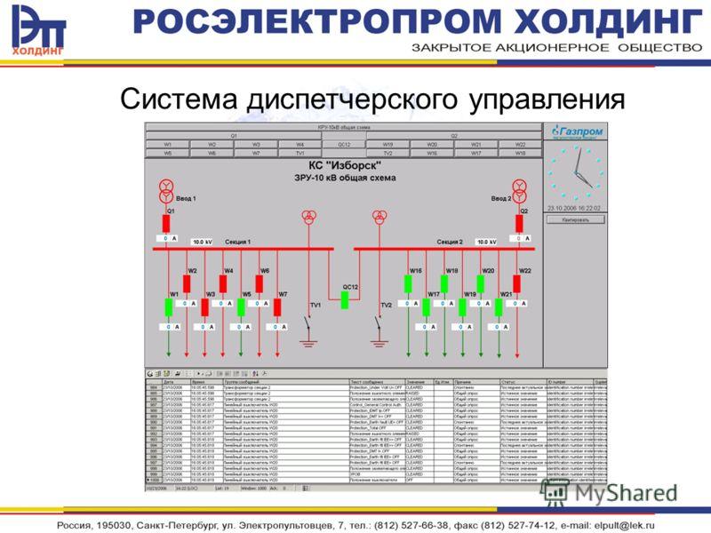 Система диспетчерского управления
