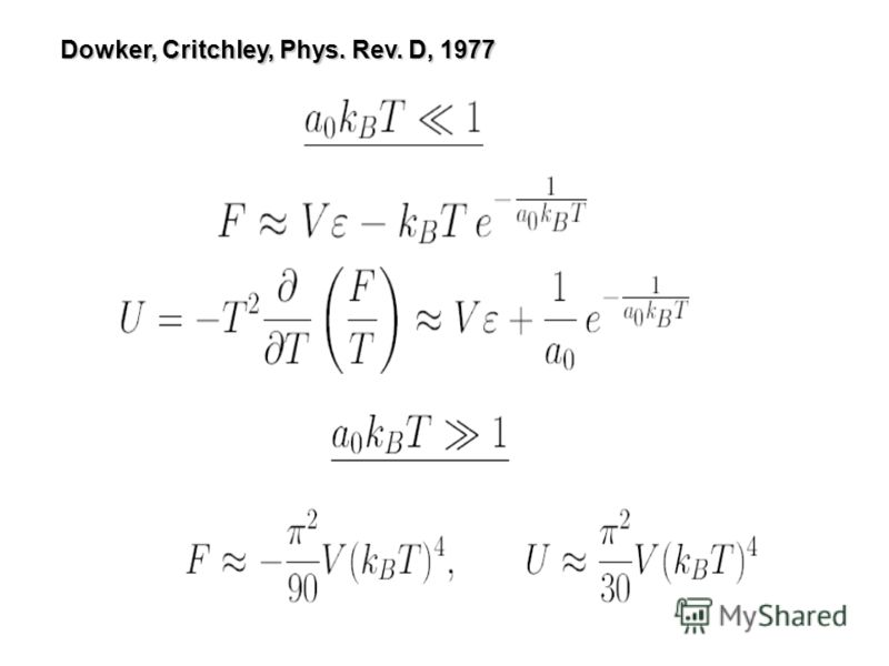 Dowker, Critchley, Phys. Rev. D, 1977