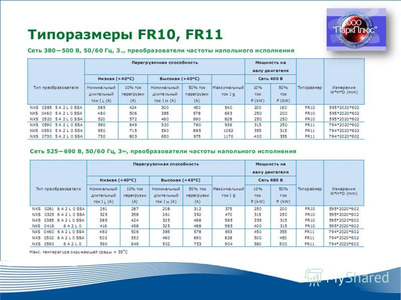 15 2010 г. г. Москва Типоразмеры FR10, FR11