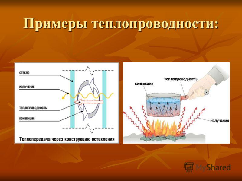 Примеры теплопроводности: