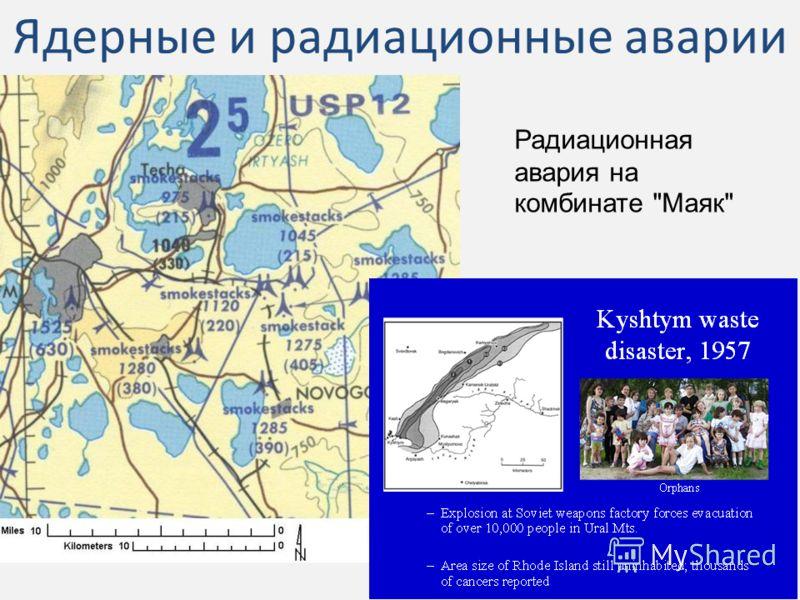 Ядерные и радиационные аварии Радиационная авария на комбинате Маяк