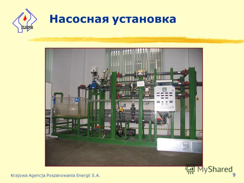 Krajowa Agencja Poszanowania Energii S.A. 9 Насосная установка