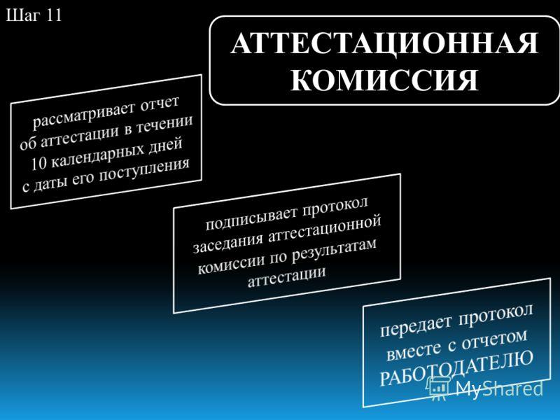 АТТЕСТАЦИОННАЯ КОМИССИЯ Шаг 11
