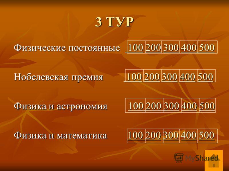 Физические постоянные 100 200 300 400 500 100200300400 500 100200300400 500 Нобелевская премия 100 200 300 400 500 100200300400500 100200300400500 Физика и астрономия 100 200 300 400 500 100 200 300400500100 200 300400500 Физика и математика 100 200