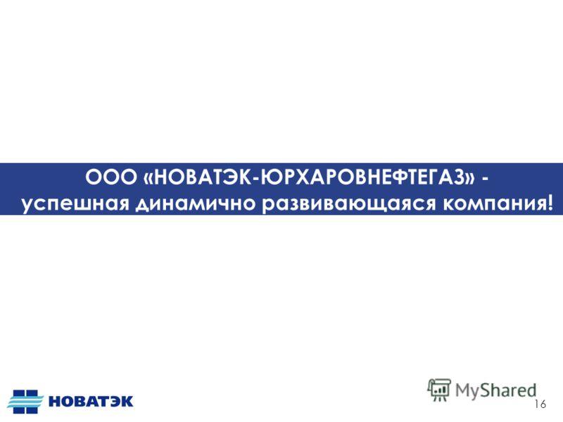 ООО «НОВАТЭК-ЮРХАРОВНЕФТЕГАЗ» - успешная динамично развивающаяся компания! 16