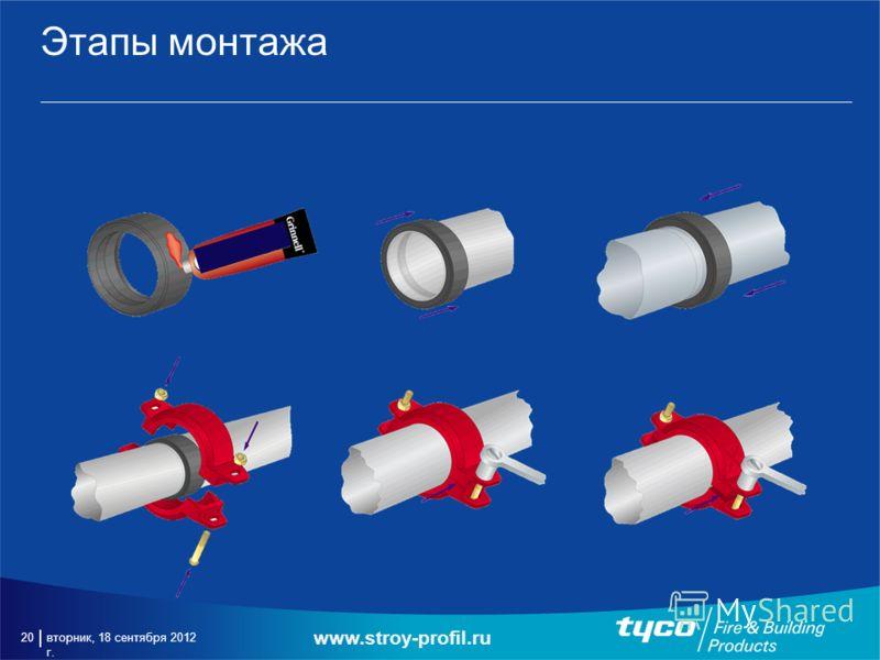 вторник, 18 сентября 2012 г. 20 Этапы монтажа www.stroy-profil.ru
