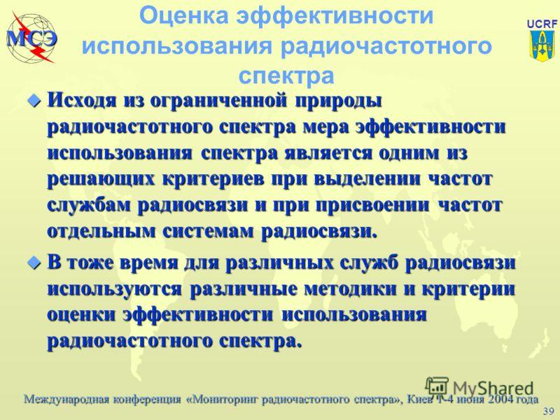 Международная конференция «Мониторинг радиочастотного спектра», Киев 1-4 июня 2004 года МСЭ UCRF 38 Материалы МСЭ-Р по автоматизации (1) u МСЭ-Р Справочник по компьютерным методам управления использованием радиочастотного спектра, 1999, Женева (начат