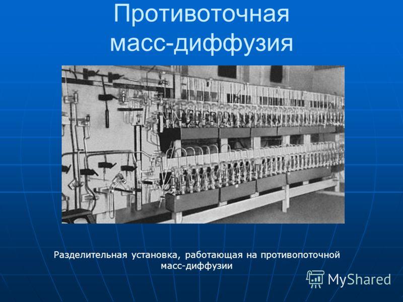Противоточная масс-диффузия Разделительная установка, работающая на противопоточной масс-диффузии