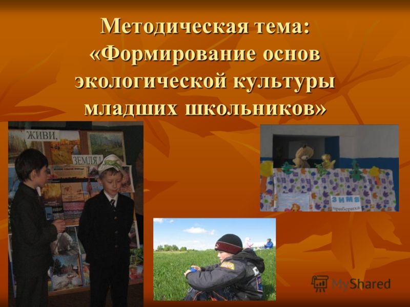 Методическая тема: «Формирование основ экологической культуры младших школьников»
