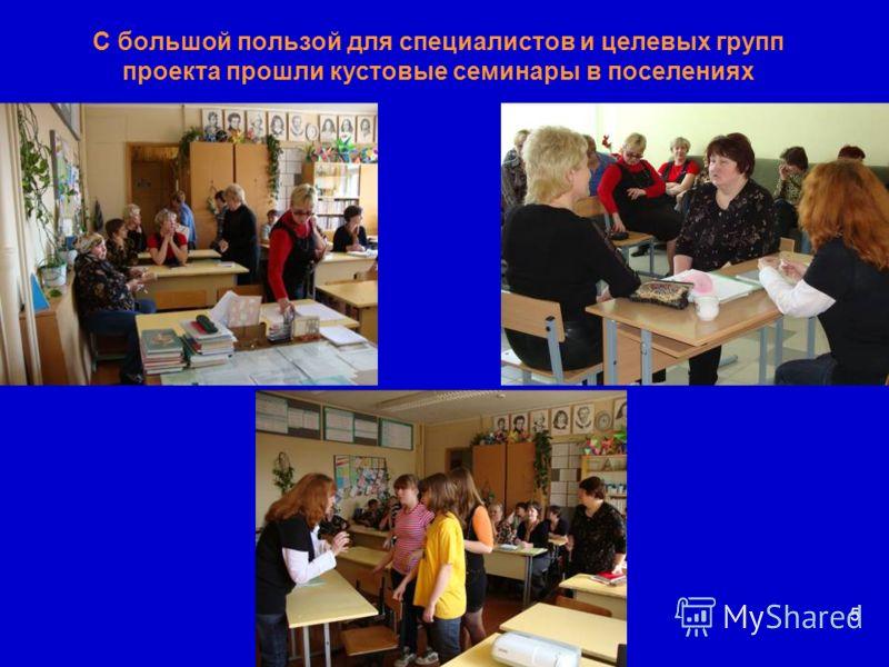 С большой пользой для специалистов и целевых групп проекта прошли кустовые семинары в поселениях 5
