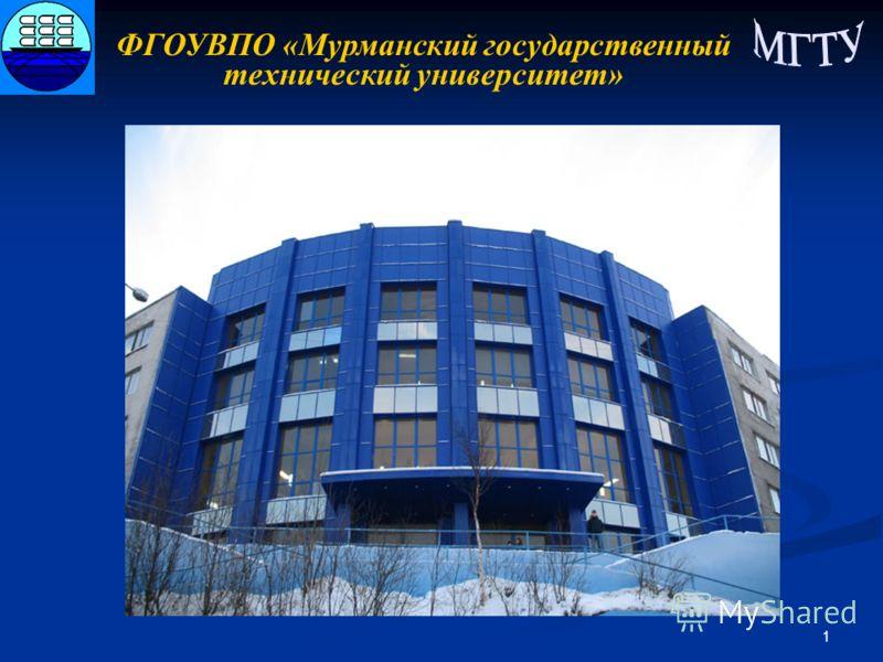 1 ФГОУВПО «Мурманский государственный технический университет»