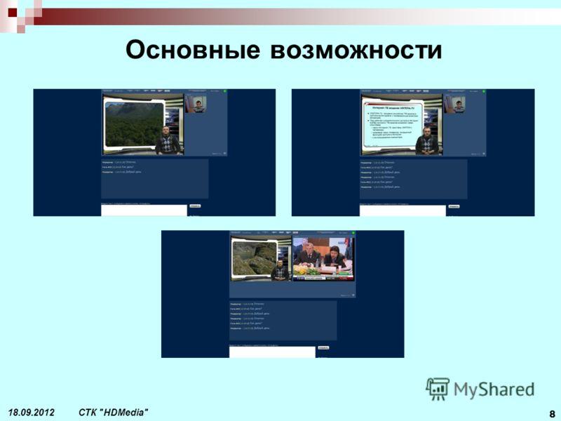 СТК HDMedia 8 18.09.2012 Основные возможности