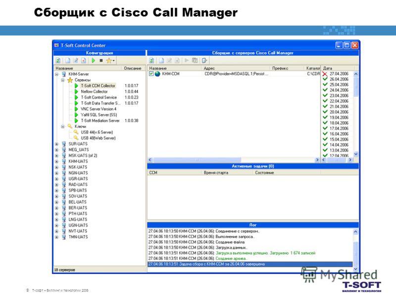 Т-софт – Биллинг и технологии 2006 Сборщик с Cisco Call Manager