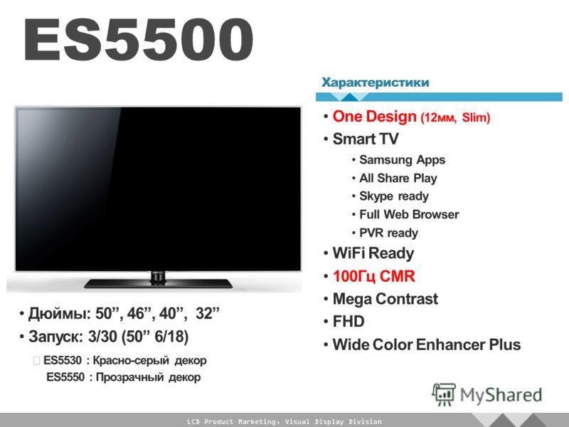 LCD Product Marketing, Visual Display Division