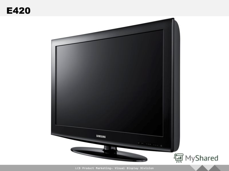 LCD Product Marketing, Visual Display Division E420