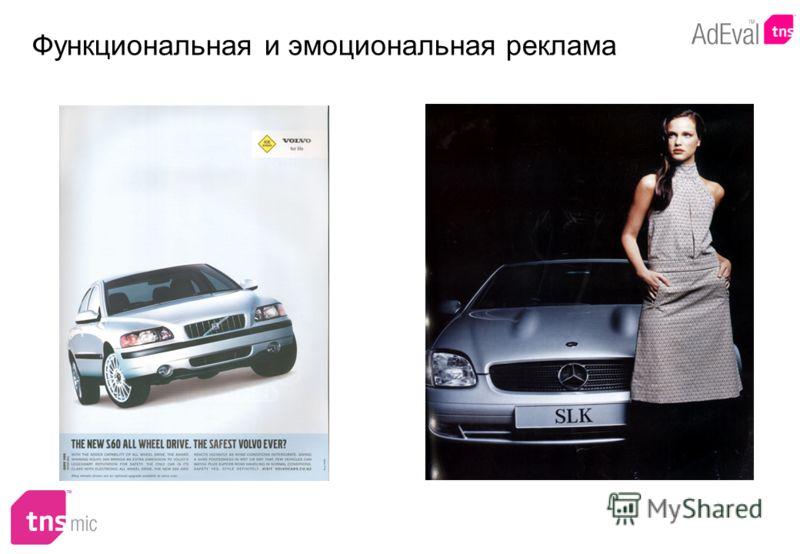 Функциональная и эмоциональная реклама