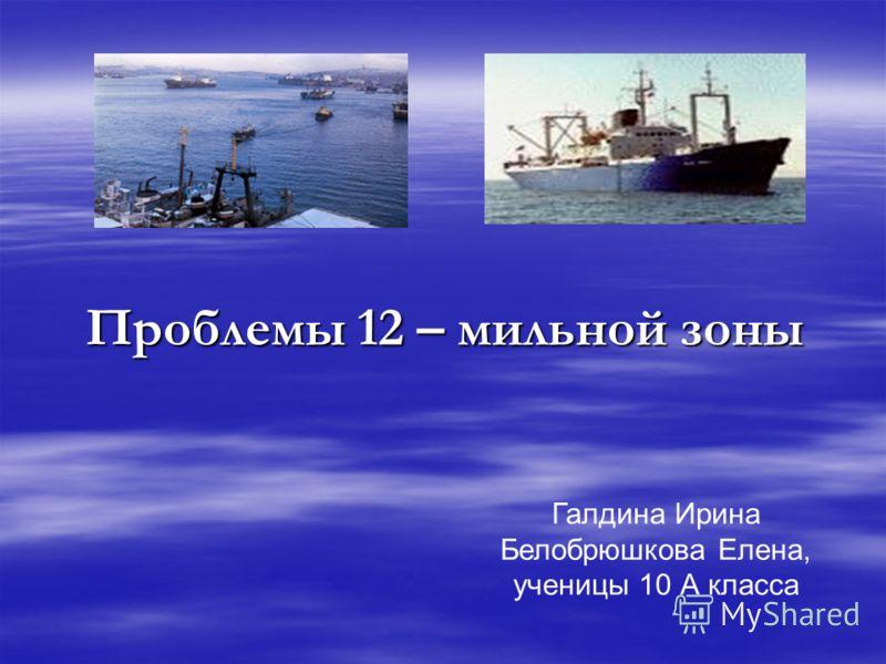 Проблемы 12 – мильной зоны Галдина Ирина Белобрюшкова Елена, ученицы 10 А класса