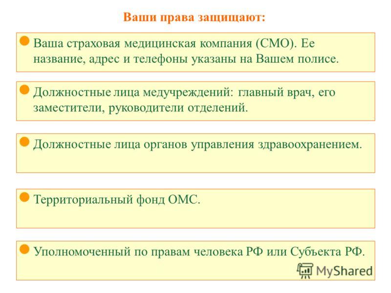 Должностная инструкция заместителя главного врача по омс