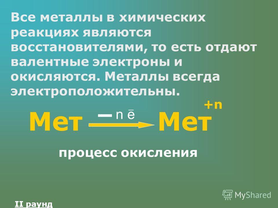 Металлы 300 Что общего в поведении всех металлов в химических реакциях?