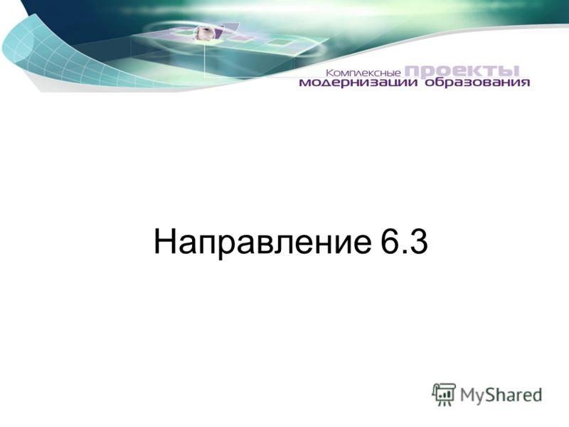 Направление 6.3