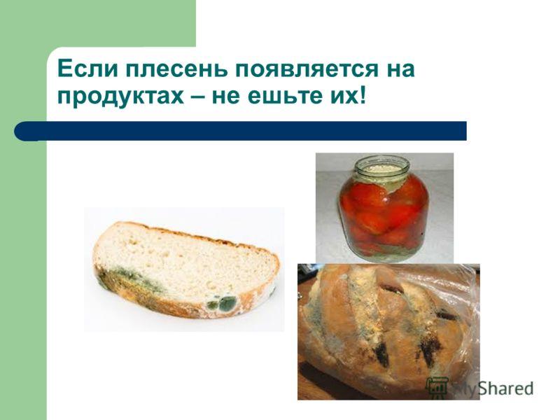 Если плесень появляется на продуктах – не ешьте их!
