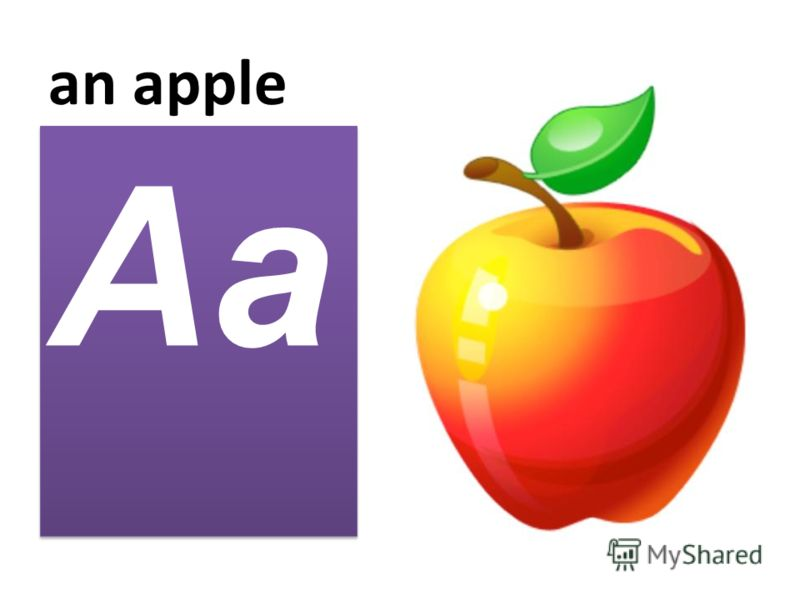 an apple Aa