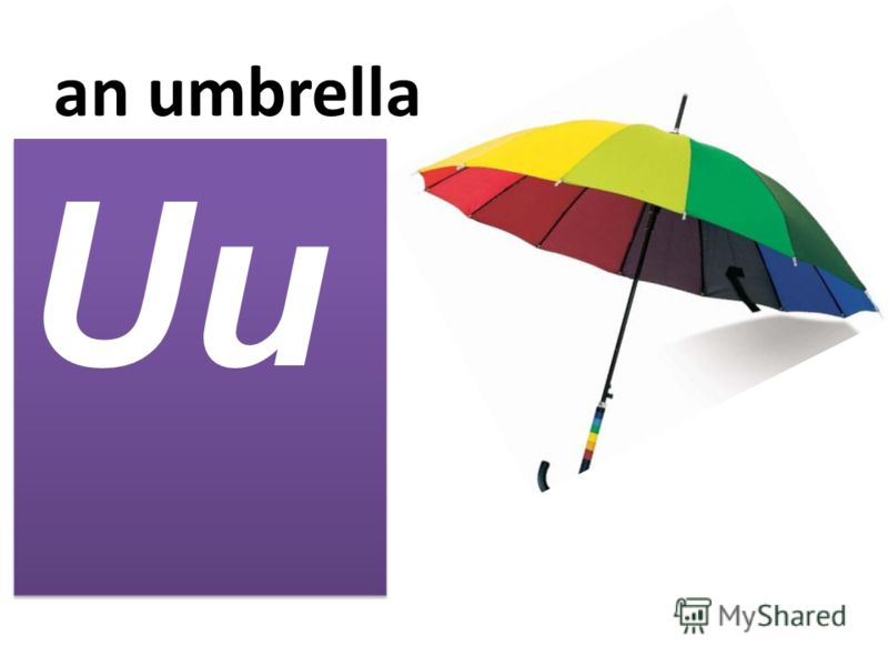 an umbrella Uu
