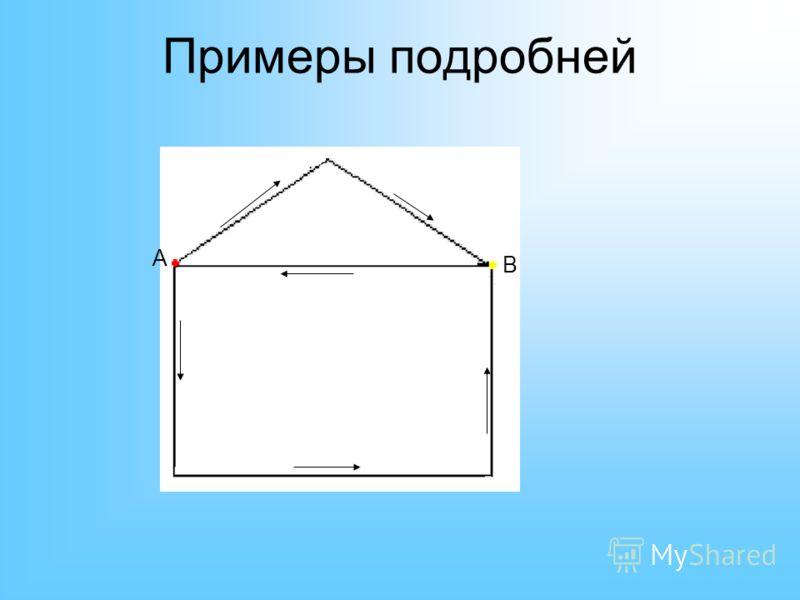Примеры подробней A B