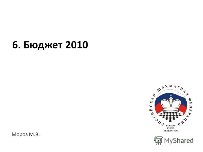 Мороз М.В. 6. Бюджет 2010