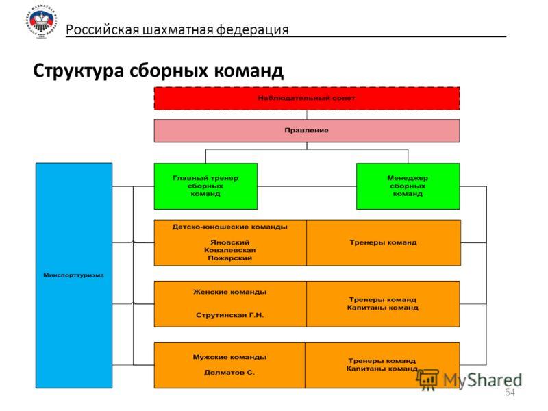 Российская шахматная федерация_____________________________ Структура сборных команд 54