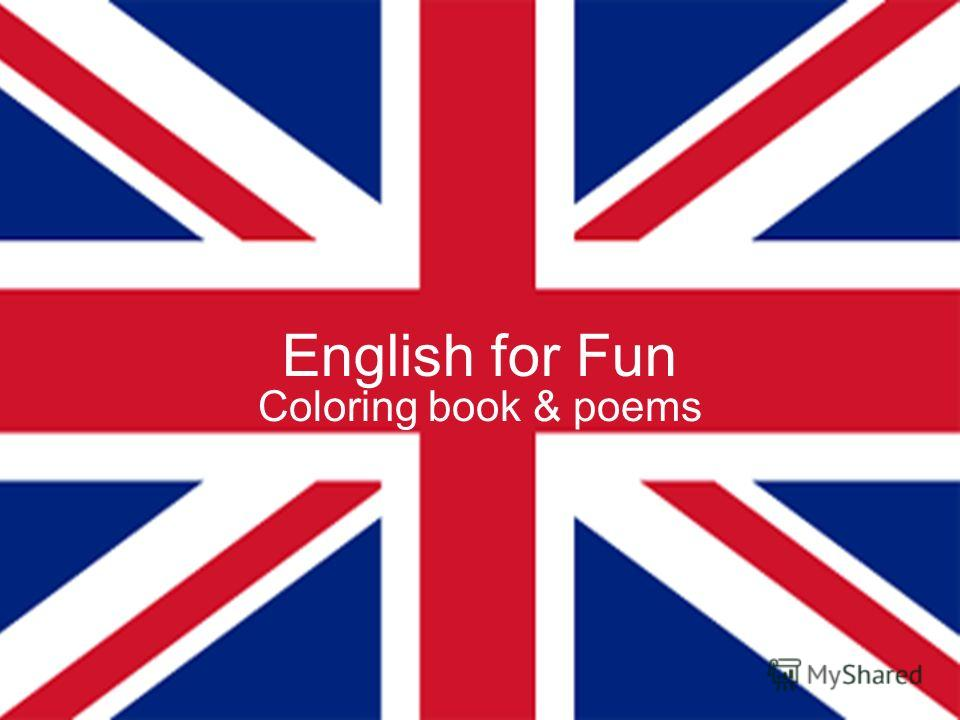 English for Fun Coloring book & poems