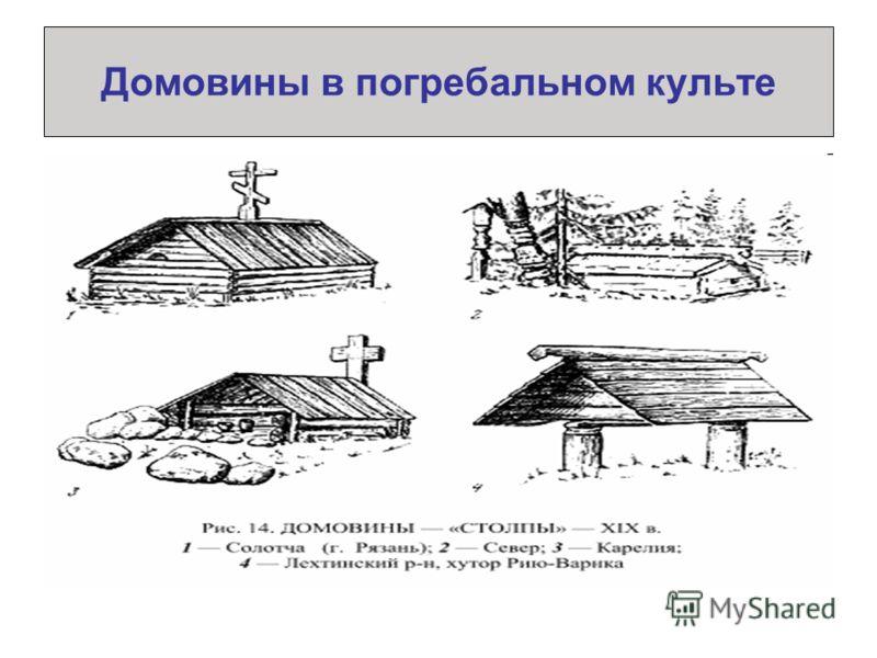 Домовины в погребальном культе