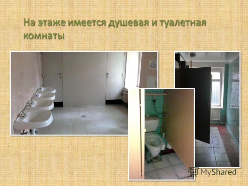 На этаже имеется душевая и туалетная комнаты