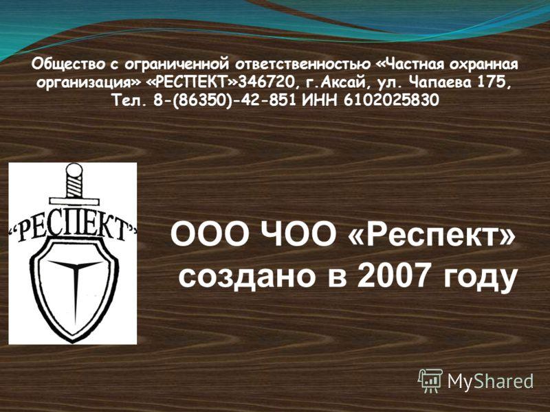 Чуленбаева Лариса Владимировна, директор Общество с ограниченной ответственностью Частная охранная организация «Респект»