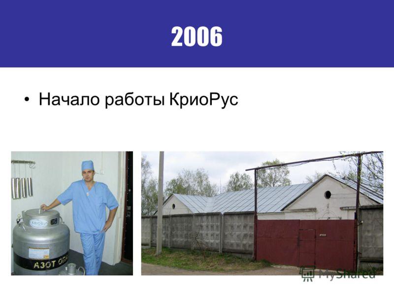 2006 Начало работы Крио Рус