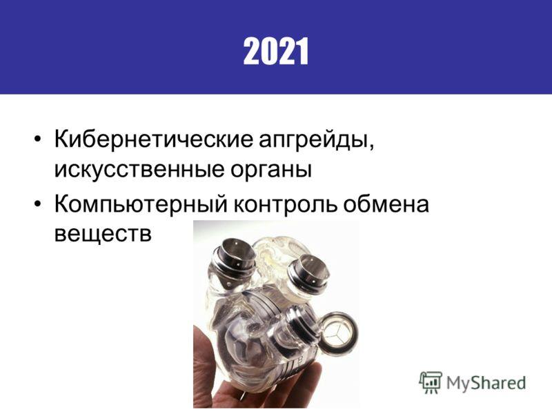 2021 Кибернетические апгрейды, искусственные органы Компьютерный контроль обмена веществ