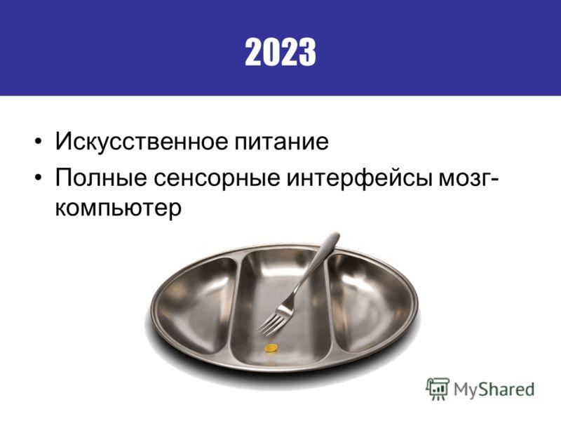 2023 Искусственное питание Полные сенсорные интерфейсы мозг- компьютер