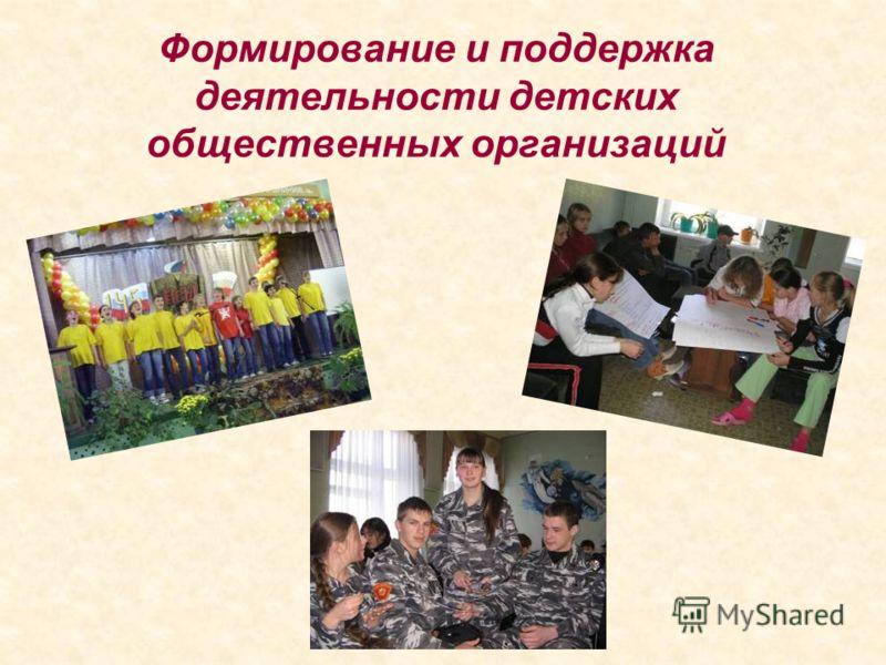 Формирование и поддержка деятельности детских общественных организаций