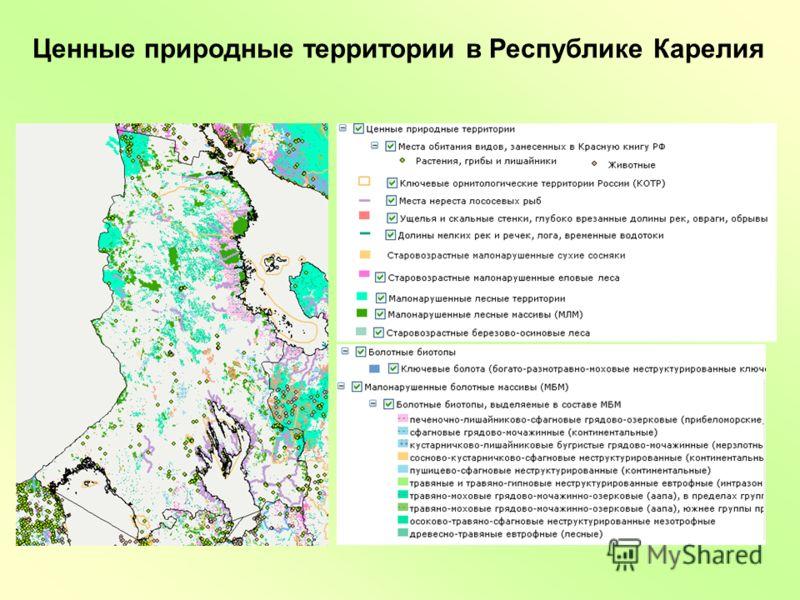 Ценные природные территории в Республике Карелия