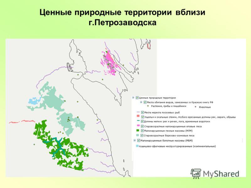 Ценные природные территории вблизи г.Петрозаводска