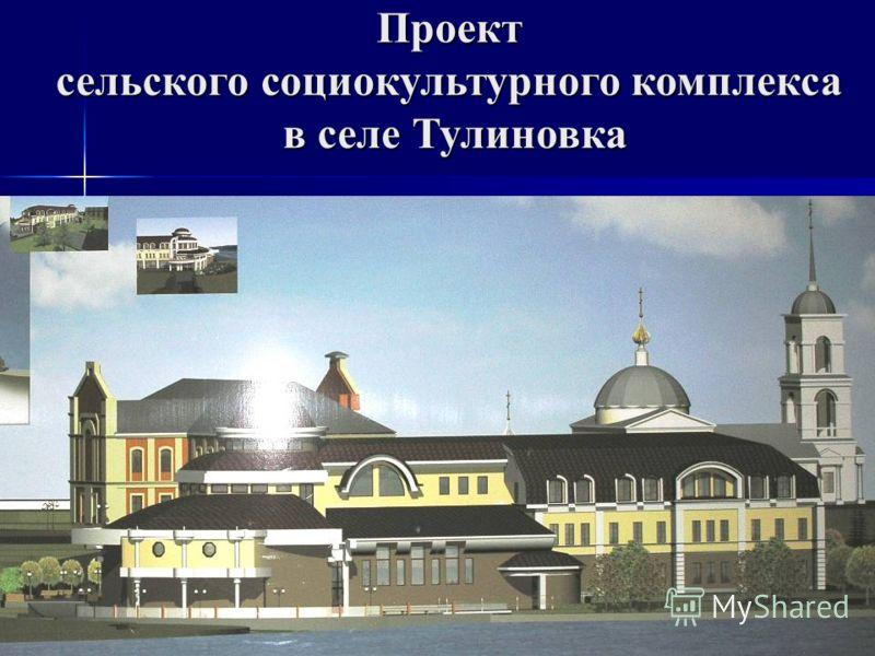 Проект сельского социокультурного комплекса в селе Тулиновка