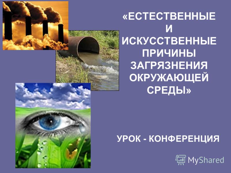 «ЕСТЕСТВЕННЫЕ И ИСКУССТВЕННЫЕ ПРИЧИНЫ ЗАГРЯЗНЕНИЯ ОКРУЖАЮЩЕЙ СРЕДЫ» УРОК - КОНФЕРЕНЦИЯ