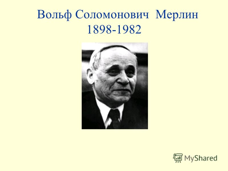 Вольф Соломонович Мерлин 1898-1982