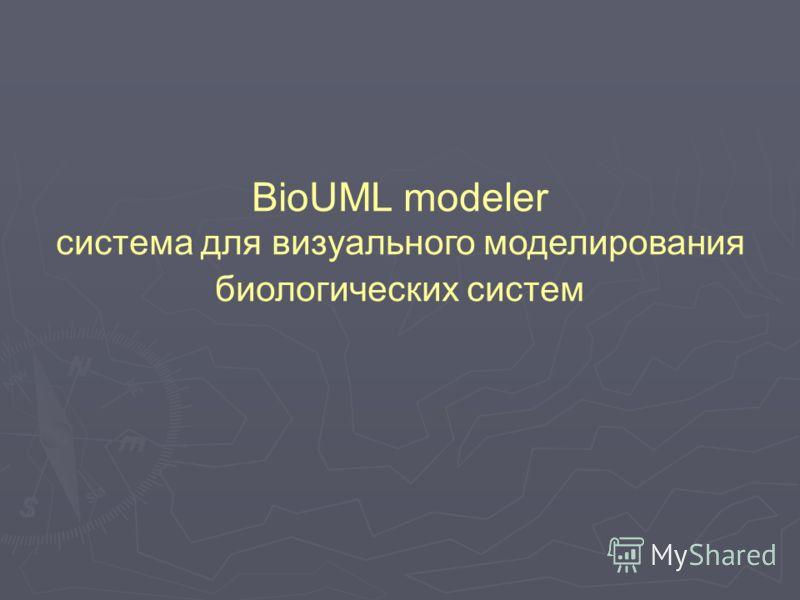 BioUML modeler система для визуального моделирования биологических систем