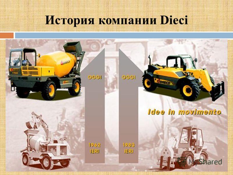 История компании Dieci